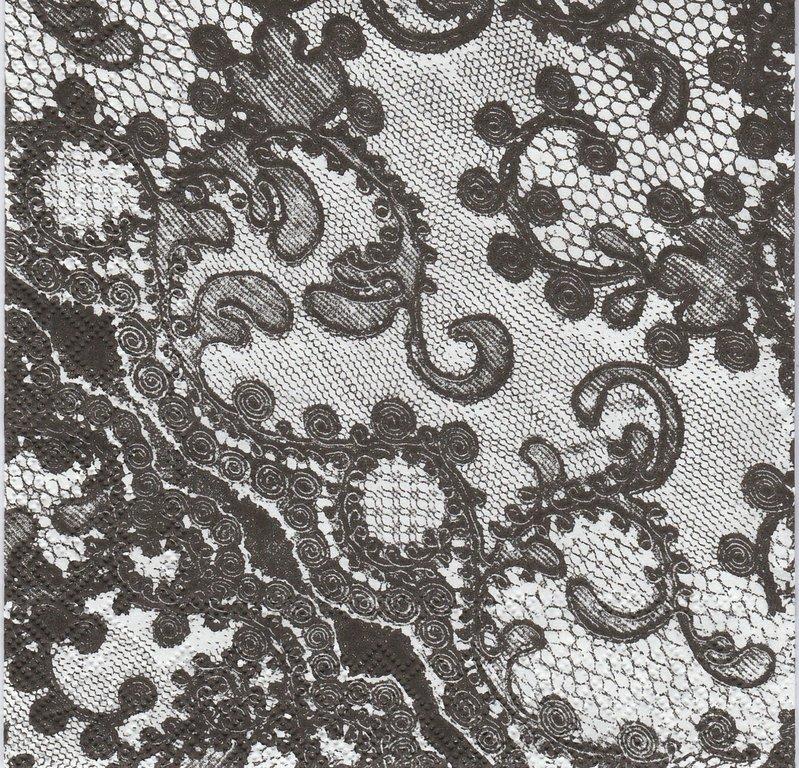 2 serviettes papier motif dentelle passioncreationcollection. Black Bedroom Furniture Sets. Home Design Ideas