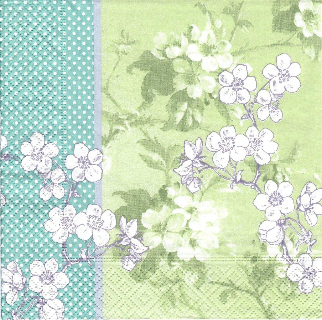 Serviettes Papier Fleur Cerisier Japon Passioncreationcollection