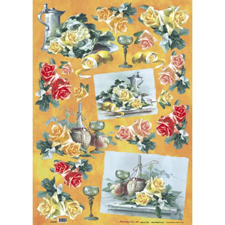 Individual Paper Decoupage Napkin Unique Creative Design Collection 208