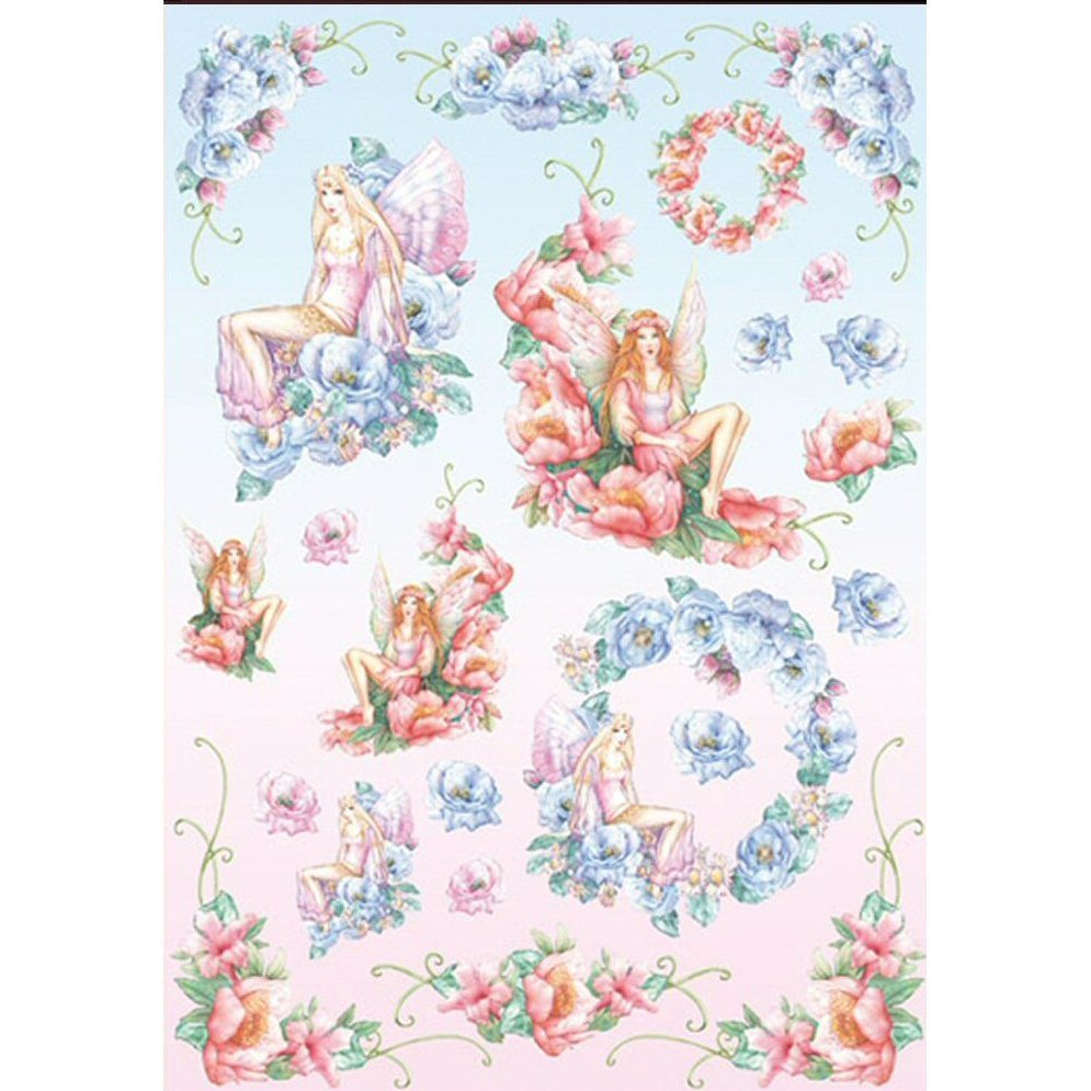 Decoupage Paper Flower Fairy Dfg323 Passioncreationcollection