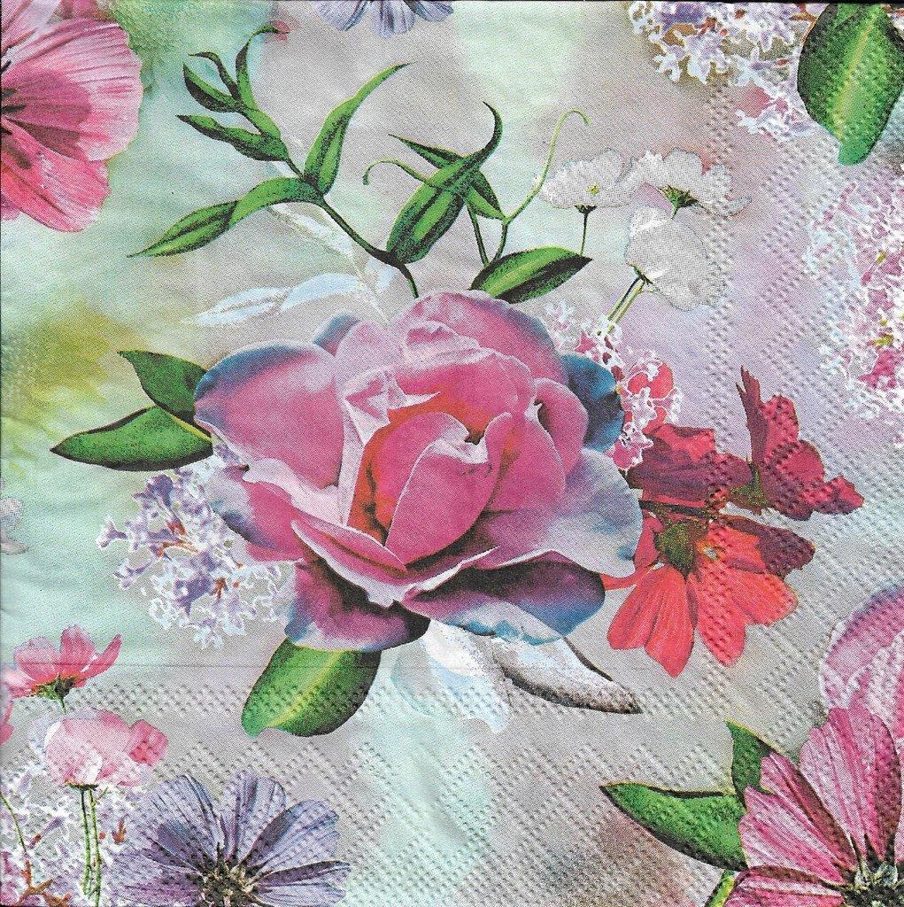 2 Paper Napkins Flower Passioncreationcollection