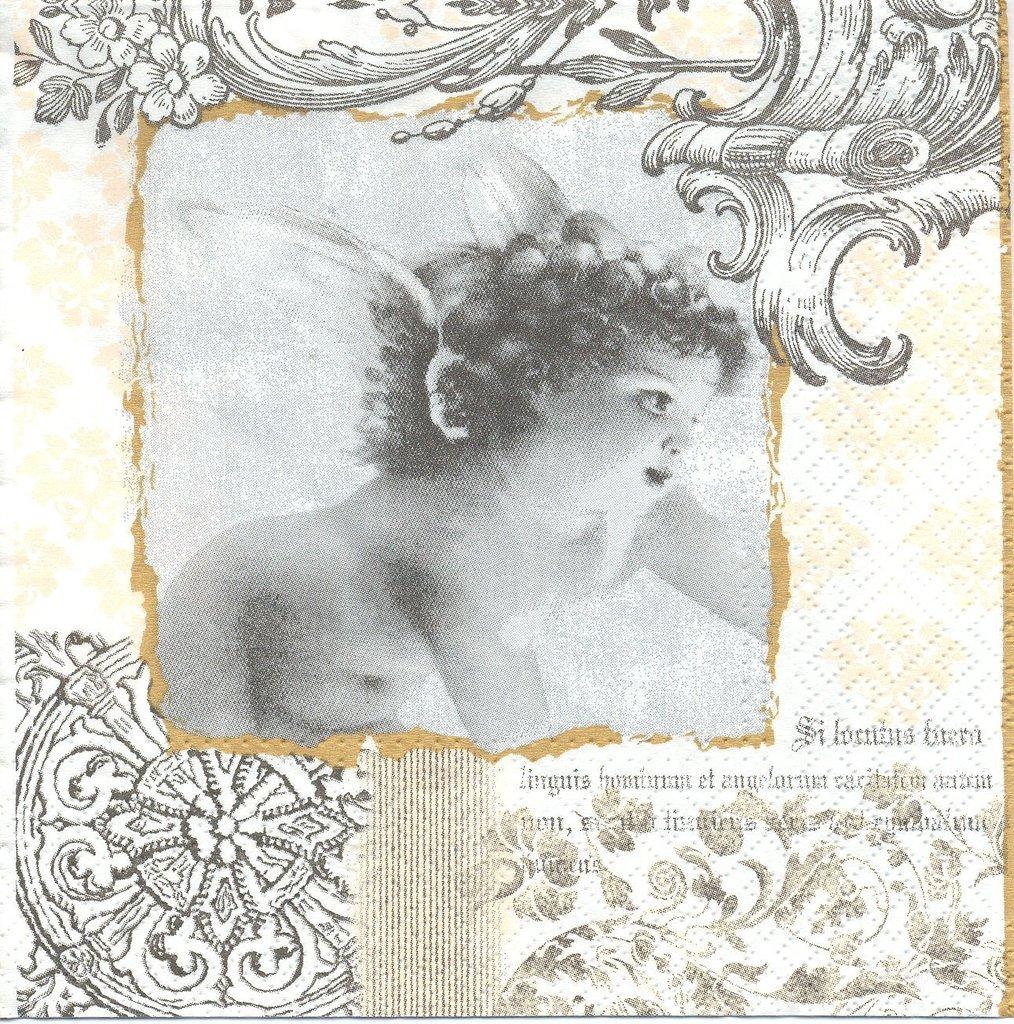 2 serviettes en papier ange baroque decoupage paper napkins angel | ebay