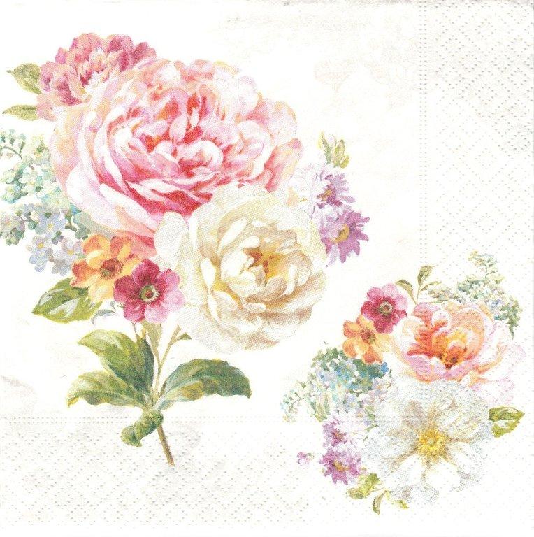 serviette en papier fleurs divers passioncreationcollection. Black Bedroom Furniture Sets. Home Design Ideas