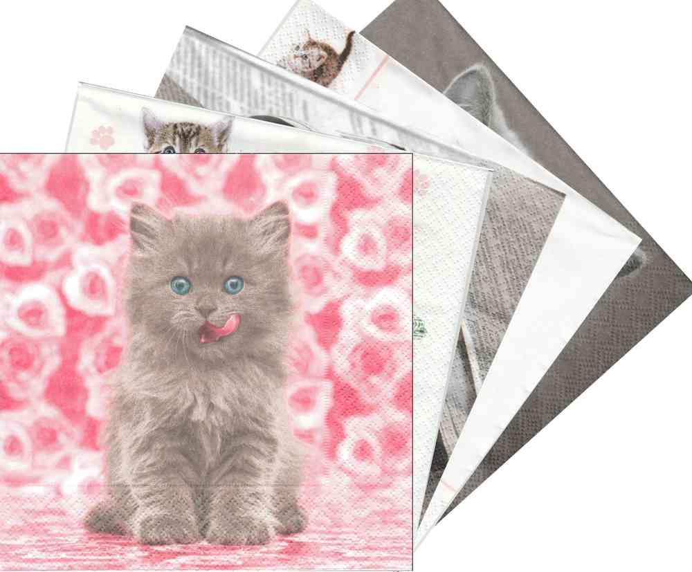 Kasimir Chaton Serviettes en papier Chat Amoureux Bbq Fête Picnic Jetable Serviettes