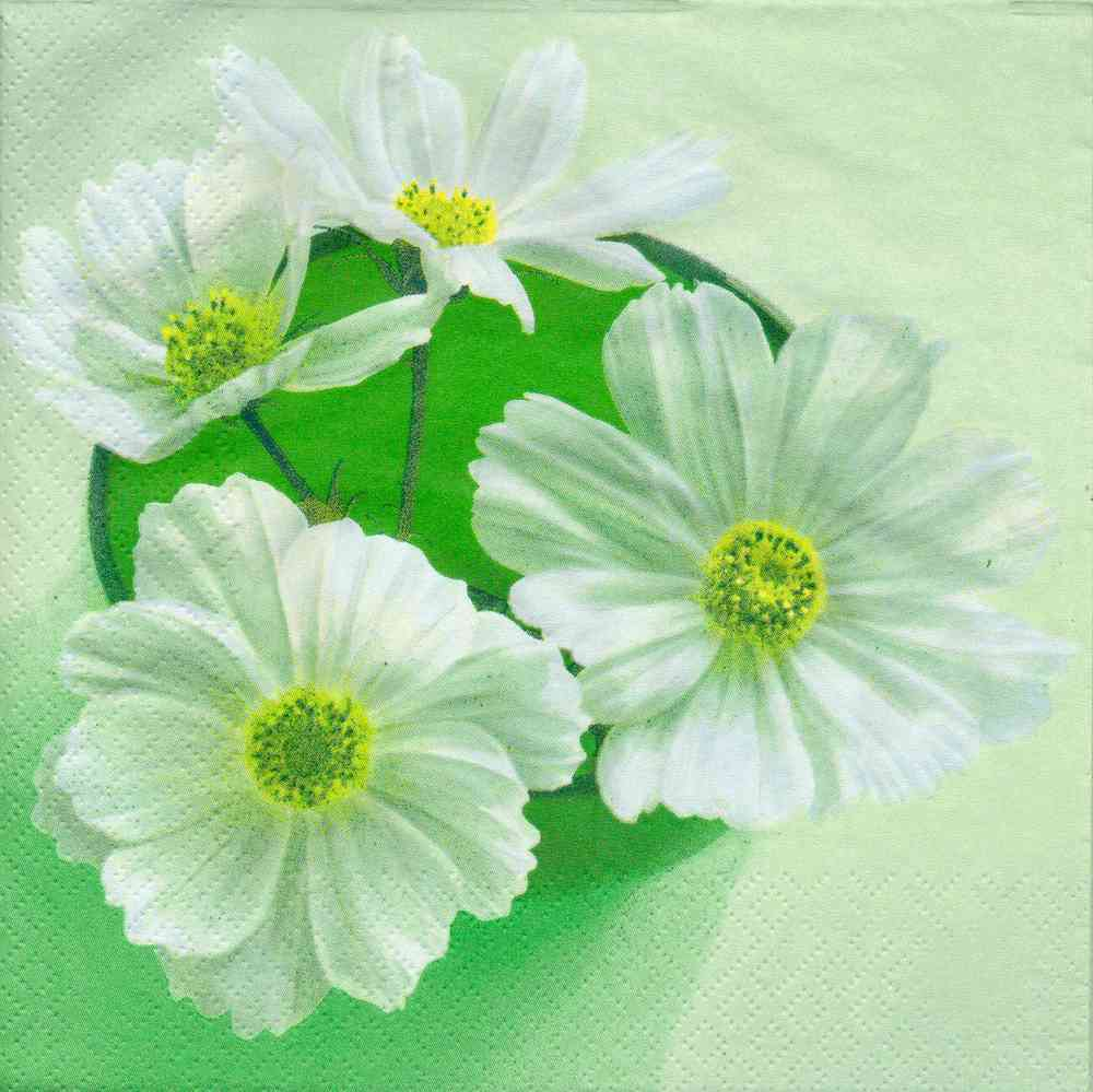 Paper Napkin Flower Daisy Passioncreationcollection