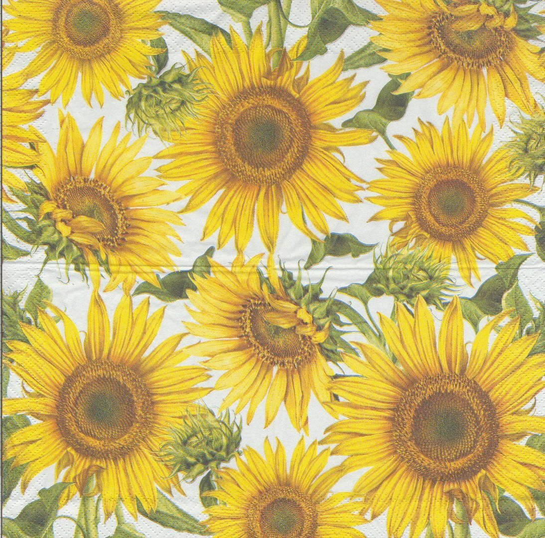 Paper Napkin Flowers Sunflower Passioncreationcollection