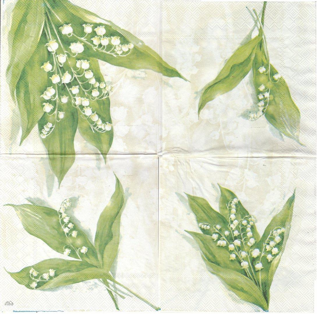 serviette en papier fleurs muguet passioncreationcollection. Black Bedroom Furniture Sets. Home Design Ideas