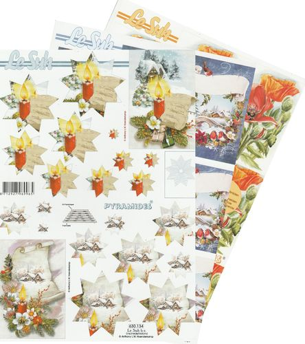 3D Decoupage Sheet A4 - 630-1