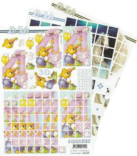 3D Decoupage Sheet A4 - 630-2