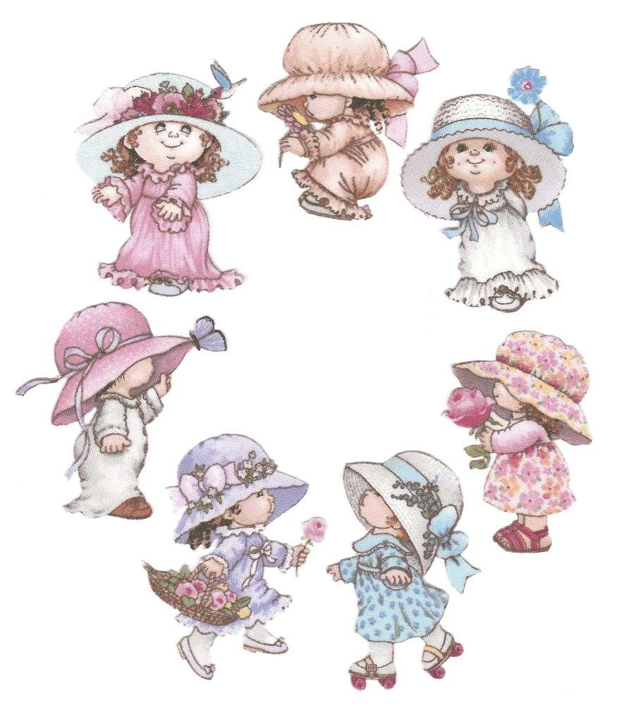 Patch Thermocollant en tissu Petite Fille chapeau Marguerite Applique à repasser