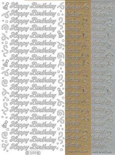 Starform Text Stickers 399 Birthday