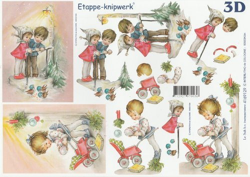 3D Decoupage Sheet A4 Children
