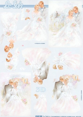 3D Decoupage Sheet A4 4169-183 Wedding