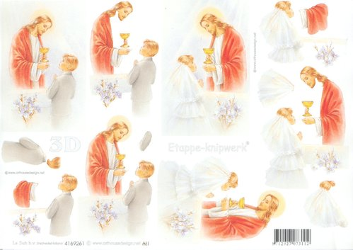Feuille 3D A4 4169.261 Communion