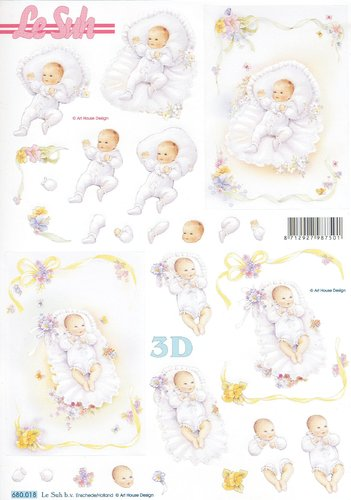 3D Die cut Sheet A4 Birth