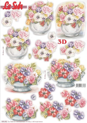 3D Die cut Sheet A4 Flowers