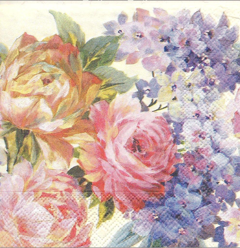 Serviettes Papier Fleurs Peintes Passioncreationcollection