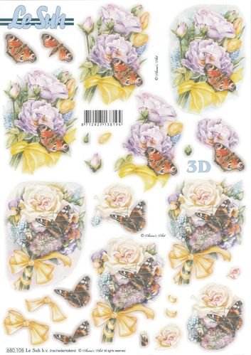 3D Die cut Sheet A4 680-108 Butterfly