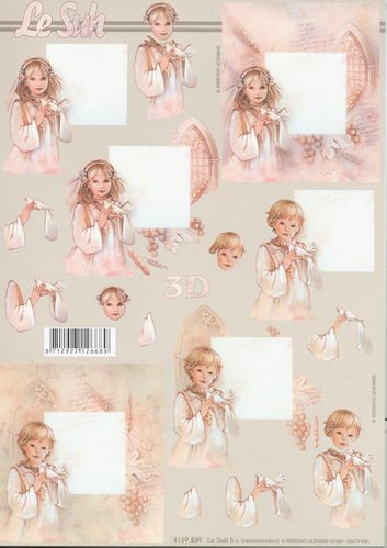 3D Decoupage Sheet 4169-809 Communion
