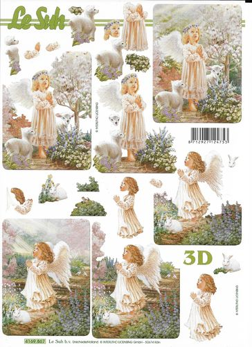 3D Decoupage Sheet 4169-867 Angel