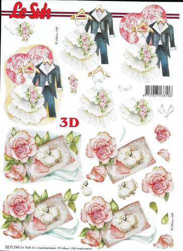 Feuille 3D 8215.794 Mariage