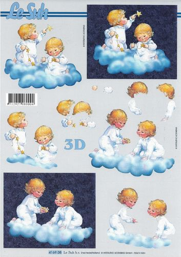 3D Decoupage Sheet A4 Angels