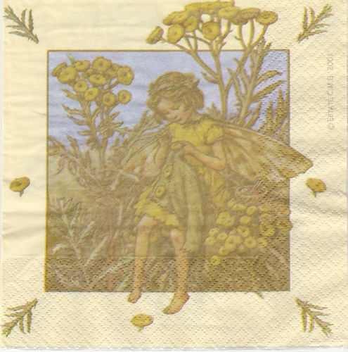 4 Paper Napkins Flower Fairies Tansy