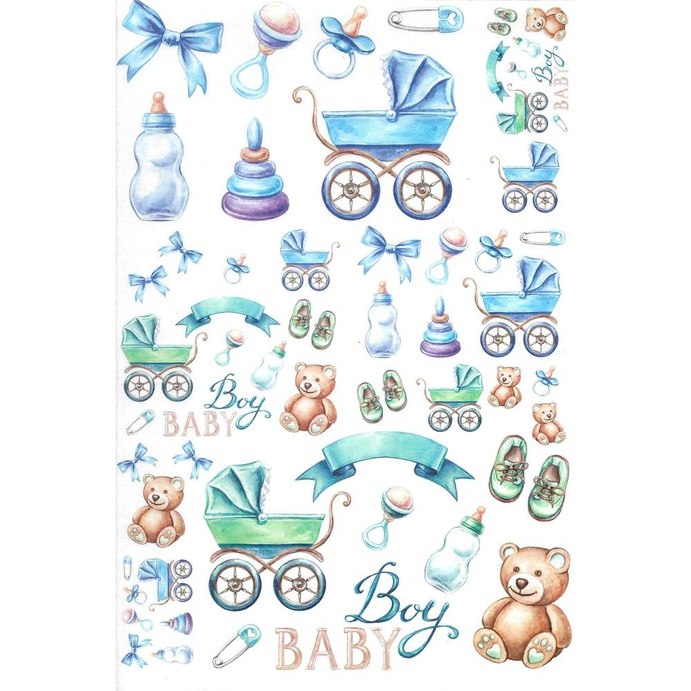 Rice Paper 22x32 Cm Baby Boy