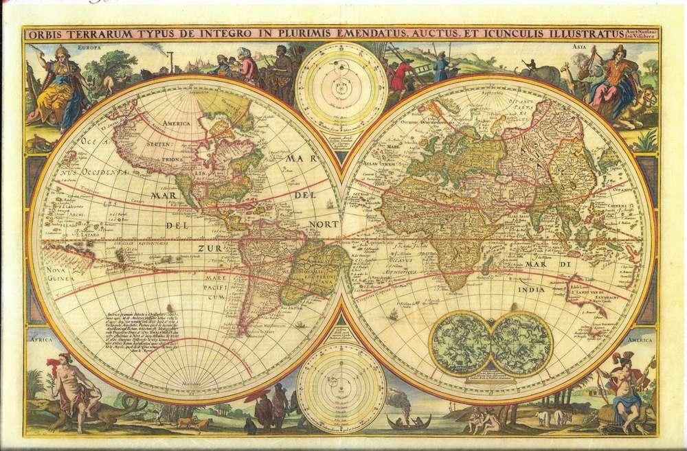 Rice Paper 22x32 cm World Map