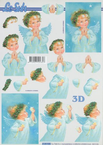3D Decoupage Sheet Angel