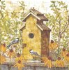4 Paper Napkins Birdhouse in Fall