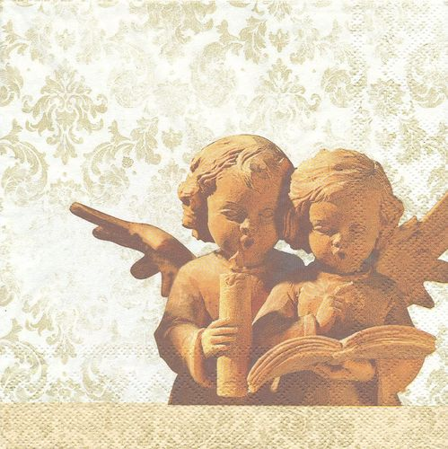 2 Serviettes papier Anges Angelots