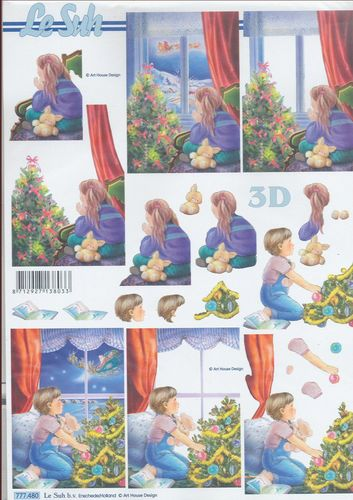 3D Sheet A4 Christmas Children