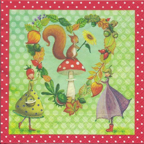 4 Paper Napkins Enchanted Forest