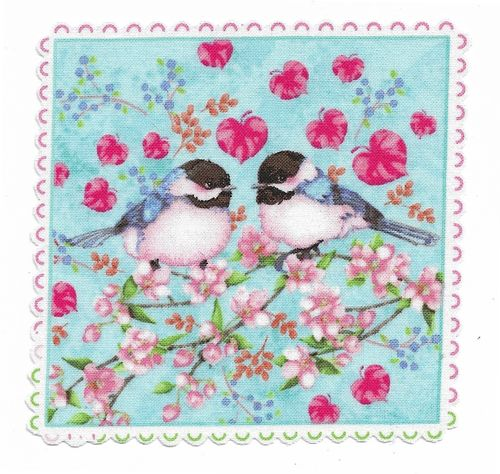 Patch Thermocollant Oiseaux Printemps