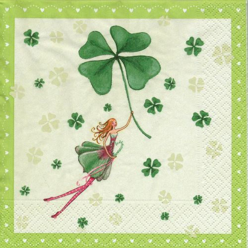 2 Paper Napkins Lucky Fairy