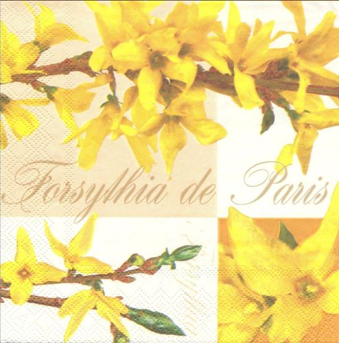 2 Serviettes papier Forsythia de Paris
