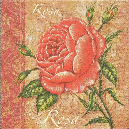 2 Serviettes papier Rose Joadoor