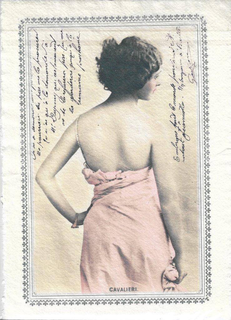 Photo imprimée sur papier coton fait main Anges 18x27 cm Sagen Vintage