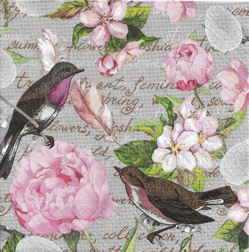 2 Paper Napkins Birds of a feather