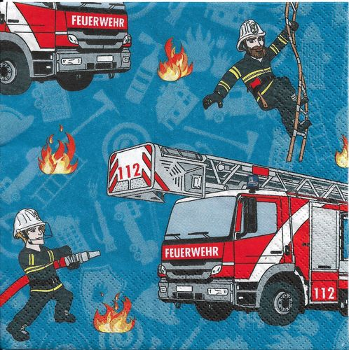 2 Paper Napkins Fire Fighter
