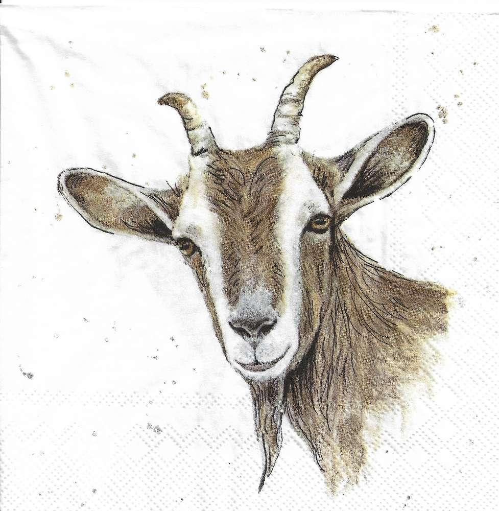 4x Paper Napkins for Decoupage Farmfriends horse white
