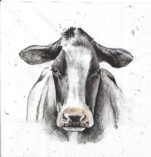 4 Paper Napkins Farmfriends Cow