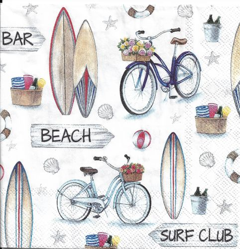 4 Paper Napkins Surf Club