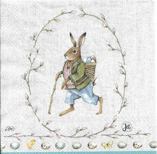 4 Paper Napkins Edward Rabbit