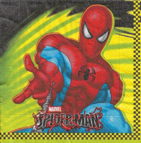 4 Serviettes papier Spiderman