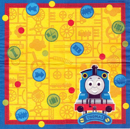 2 Serviettes papier Thomas Train