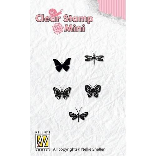 Mini clear stamps Butterflies