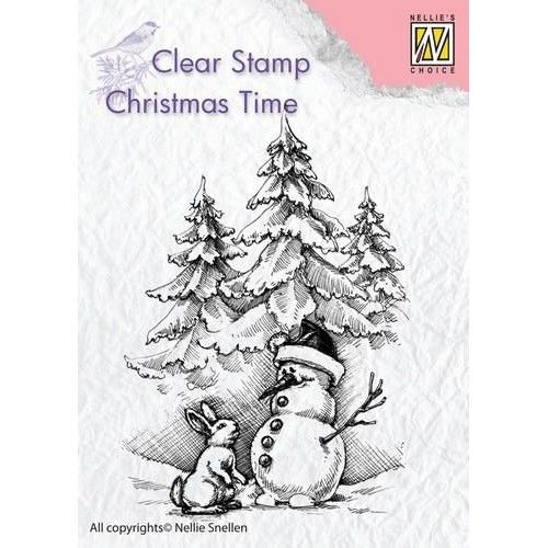 Clear Stamp Snowman & Rabbit