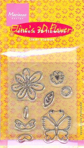 Clear Stamps 3D Flower Butterfly